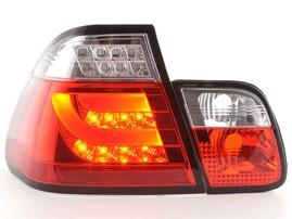 BMW E46 Седан 98-01 Фонари светодиодные, lightbar design, красно-белые