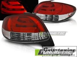 Peugeot 206 98- Фонари светодиодные, lightbar design, красно-белые