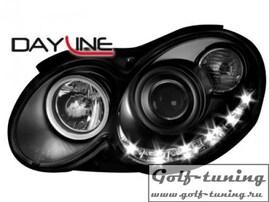 Mercedes W209 03-10 Фары Devil eyes, Dayline черные