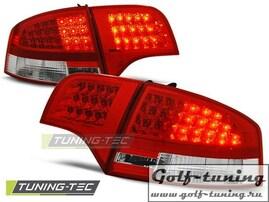 Audi A4 B7 04-07 Седан Фонари светодиодные, красно-белые