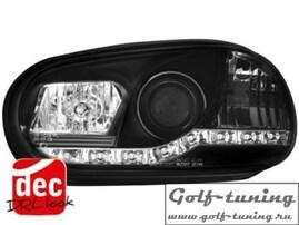 VW Golf 4 Фары Devil eyes, Dayline черные Dectane SWV02GXB