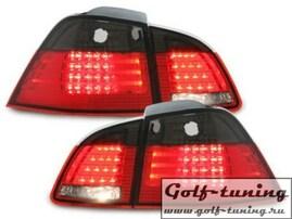 BMW E61 Touring 06-10 Фонари светодиодные, красно-тонированные
