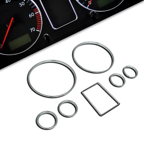 Audi A4 B5/A6 C5 Комплект хромированных колец в приборную панель