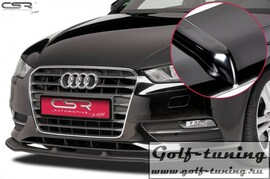 Audi A3 8V 12-16 Накладка на передний бампер Cupspoilerlippe глянцевая