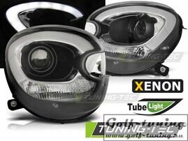 Mini cooper R60 Counryman 10-14 Фары tube light design черные под ксенон