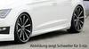 Seat Leon 5F/FR/Cupra 3Дв 12- Накладки на пороги черные