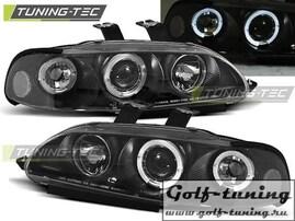 Honda Civic 91-95 2D/3D Фары Angel eyes черные