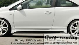 Opel Corsa D 3Дв Пороги Carbon Look
