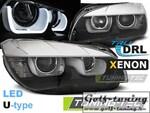 BMW X1 E84 09-15 Фары TUBE LIGHT черные под ксенон