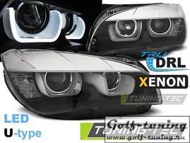 BMW X1 E84 09- Фары TUBE LIGHT черные под ксенон