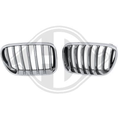 BMW X3 F25 10-14 Решетки радиатора (ноздри) хром