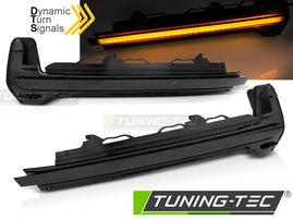 AUDI TT 14-18/R8 15-18 Светодиодные тонированные динамические бегающие поворотники в зеркало