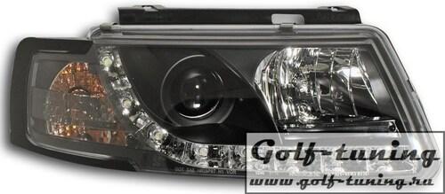 VW Passat B5 Фары Devil eyes, Dayline черные