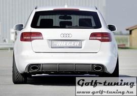Audi A6 4F 08-11 Седан/Универсал Диффузор для заднего бампера черный, глянцевый