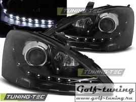 Ford Focus 98-01 Фары Devil eyes, Dayline черные