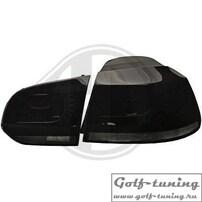 VW Golf 6 Фонари светодиодные, черно-тонированные R20 Look