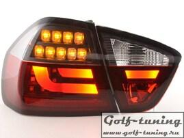 BMW E90 05-08 Седан Фонари светодиодные, красно-тонированные