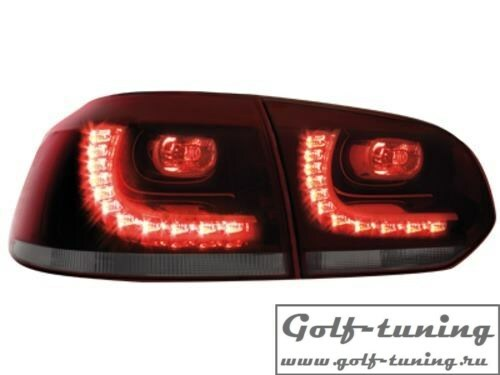 VW Golf 6 Фонари светодиодные, красно-тонированные R-Look