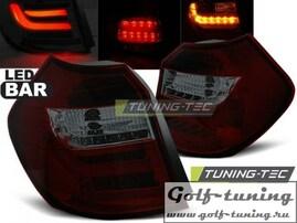 BMW E81/E87 07-11 Фонари светодиодные, красно-тонированные Lightbar с светодиодным поворотником