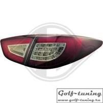 Hyundai IX35 10- Фонари светодиодные, красно-тонированные
