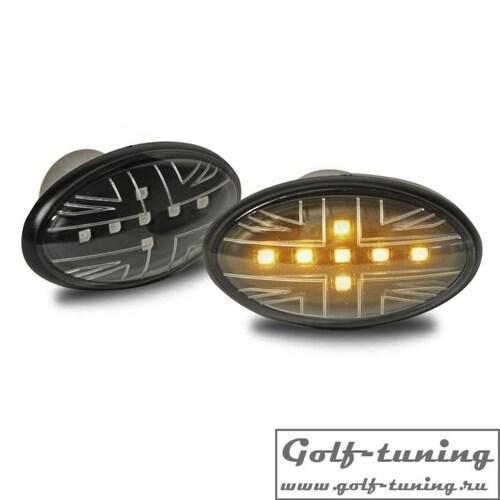 Mini Cooper R50/R53 01-06 Повторители в крыло светодиодные, черные