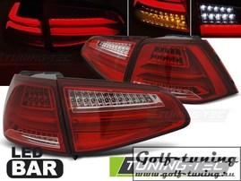 VW Golf 7 12-17 Фонари светодиодные, красно-белые Led bar design