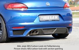 VW Scirocco 3 08-14 Накладка на задний бампер Carbon Look