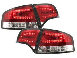 Audi A4 B7 04-08 Седан Фонари светодиодные, красно-белые с светодиодным поворотником