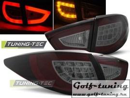 Hyundai IX35 09-13 Фонари светодиодные, красно-тонированные с светодиодным поворотником