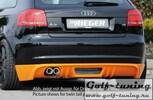 Audi A3 8P 08-12 3Дв Диффузор для заднего бампера черный