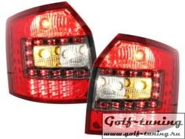 Audi A4 B6 01-04 Универсал Фонари светодиодные, красно-тонированные