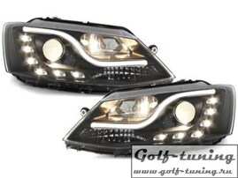VW Jetta 11-15 Фары Devil eyes, Dayline черные SWV39SLGXB