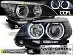 BMW E60/61 03-07 Фары Angel Eyes черные