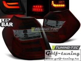 BMW E81/E87 04-07 Фонари светодиодные, красно-тонированные Lightbar с светодиодным поворотником