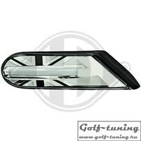 Mini R56 06-10 Повторители в крыло светодиодные, черные UNION JACK
