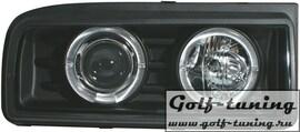 VW Corrado Фары с линзами и ангельскими глазками черные