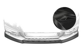 Audi A1 8X 15-18 Накладка на передний бампер глянцевая