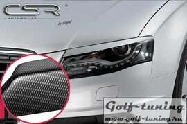 Audi A4 07-11 Реснички на фары carbon look