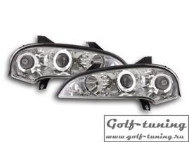 Opel Tigra 93-03 Фары с ангельскими глазками и линзами хром