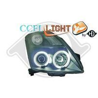 Suzuki Swift 05-10 Фары с линзами и CCFL ангельскими глазками черные