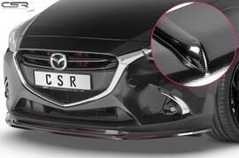 Mazda 2 (Typ DJ) 14-19 Накладка на передний бампер Carbon look