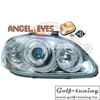 Honda Civic 96-98 Фары с ангельскими глазками и линзами хром