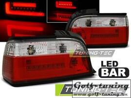 BMW E36 90-99 2Дв Фонари светодиодные, красно-белые Lightbar