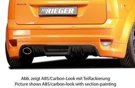 Ford Focus 2 04-08 Накладка на задний бампер Carbon Look