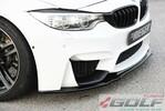 BMW F80/F82/F83 14- Накладка на передний бампер/сплиттер глянцевая