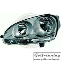 VW Golf 5 Фары оригинальные под галоген хром