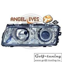 BMW E38 94-98 Фары с линзами и ангельскими глазками хром