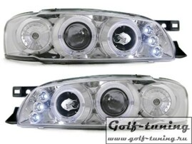 Subaru impreza 93-00 Фары с линзами и ангельскими глазками хром