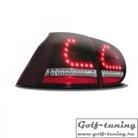 VW Golf 5 Фонари светодиодные, красно-тонированные с светодиодным поворотником
