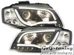 Audi A3 8P 03-08 Фары Devil eyes, Dayline черные D-LITE EVO